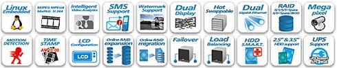 VS-8024U-RP - Rejestratory sieciowe ip