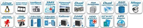 QNAP VS-4016Pro - Rejestratory sieciowe ip